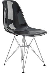 Cadeira Eif.S/Br Pc Preto Solido Base Cromada Rivatti Móveis