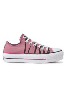 Tênis Converse All Star Platform Lift Ox Rosa Palido Ct13840003