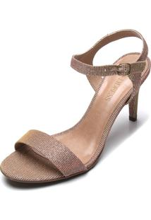 Sandã¡Lia D.Dress Glitter Dourada - Dourado - Feminino - Dafiti