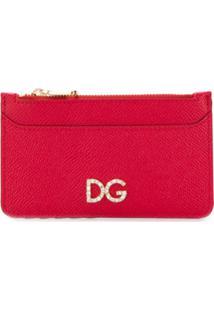 Dolce & Gabbana Carteira Com Logo - Vermelho