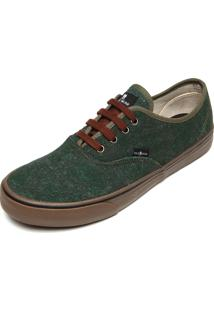 Tênis Polo Wear Estampado Verde/Marrom