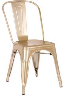 Cadeira De Cozinha Iron Dourada