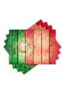 Jogo Americano - Bandeira Portugal Com 4 Peças - 931Jo