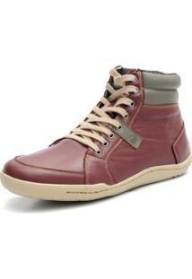 Bota Casual Numeração Especial Shoes Grand Confortável Vinho