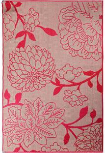Tapete Sisllê Floral Vi Retangular Polipropileno (200X300) Vermelho