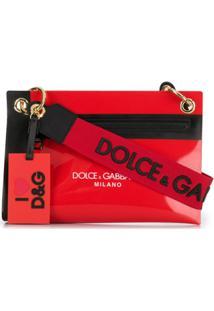 Dolce & Gabbana Bolsa Tiracolo Com Logo - Vermelho