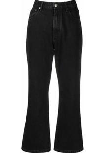 12 Storeez Calça Jeans Flare - Preto