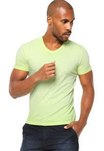 Camiseta Manga Curta Calvin Klein Jeans Logo Verde