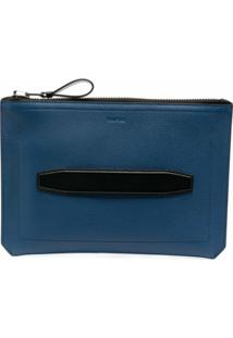 Tom Ford Clutch Com Zíper - Azul