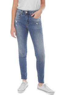 0248a4669 ... Calça Jeans Triton Skinny Estonada Azul