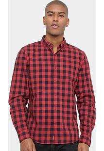 Camisa Xadrez Timberland Ls Hideaway Check Masculina - Masculino
