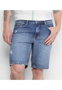 Bermuda Jeans Triton Alexander Masculina - Masculino-Jeans