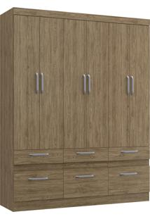 Guarda-Roupa Citrino 6 Portas 6 Gavetas Decibal Moveis Wood