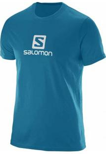 Camiseta Salomon Maculina Logo Kouak Azul M