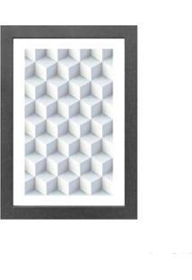 Quadro Decorativo Cubes 23X33Cm Cinza Infinity