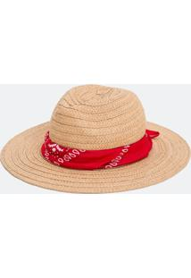 Chapéu Panamá Com Bandana