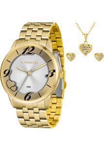 Kit Relógio Lince Feminino Com Colar E Brincos Lrg4604Lkw06S2Kx