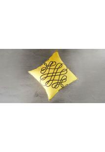 Capa De Almofada Babaievo Cor: Amarelo - Tamanho: Único