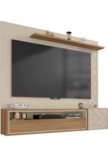 Painel Bancada Suspensa Para Tv Até 70 Pol. 2 Portas Prisma Off White/