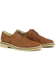 Sapato Social Adolfo Turrion Em Couro Confortável Liso - Masculino-Marrom Claro