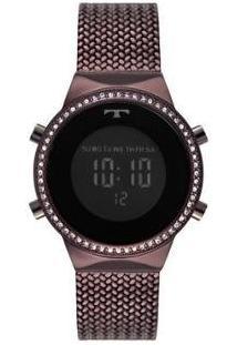 Relógio Feminino Technos Digital Bj3478Ae/4P - Feminino-Roxo