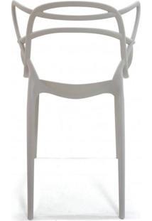Cadeira Com Encosto E Braços Aviv Fratini Móveis Cinza