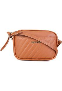 Bolsa Anacapri Mini Bag Eco Napa Like Matelassê Feminina - Feminino-Marrom