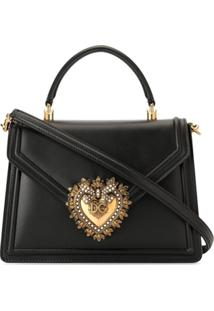Dolce & Gabbana Bolsa Tiracolo Devotion De Couro - Preto