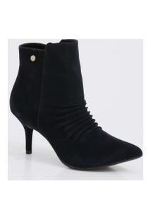 Bota Feminina Ankle Boot Cano Curto Via Uno