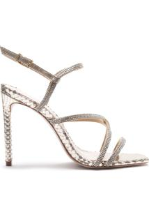 Sandália Salto Curves Glam Gold | Schutz