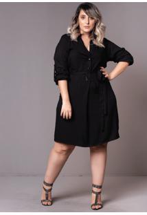 Vestido Chemise Black Plus Size