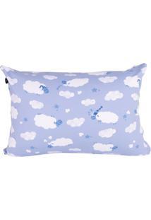 Travesseiro Fom Mini Carneirinhos Azul