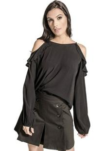 Blusa Ciganinha Colcci - Feminino-Preto