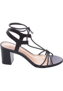 Sandália Lace Up Black | Schutz