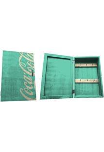 Porta-Chave Urban Coca-Cola Madeira Com Porta Contemporary Green