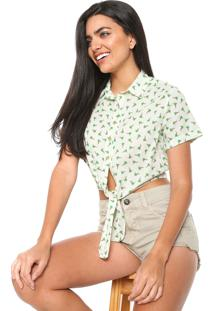 Camisa Cropped Redley Nanica Off-White