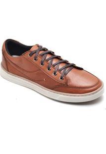 Sapatênis D&R Shoes Em Couro Masculino - Masculino-Caramelo