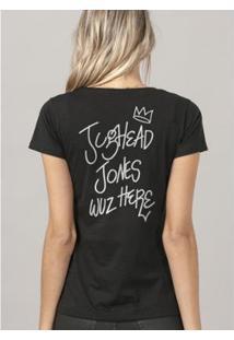 Camiseta Bandup! Riverdale Jughead - Feminino-Preto