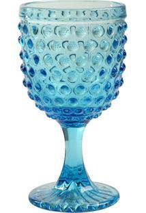 Taça De Vinho Hobnail Blue
