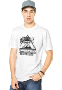 Camiseta West Coast Geométrica Branca