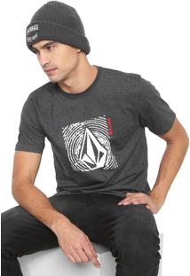 Camiseta Volcom Stonar Waves Grafite