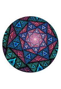 Tapete Love Decor Redondo Wevans Vitral Multicolor 84Cm