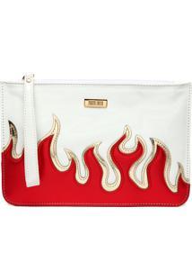 Clutch Santa Lolla Fire Branca/Vermelha