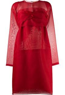 Nº21 Bow Back Mini Dress - Vermelho