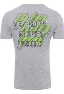 Camiseta Masculina Estampa Costas - Cinza