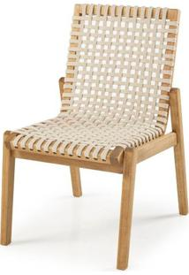 Cadeira Trama Corda Areia Estrutura Stain Jatoba 52Cm - 60361 - Sun House