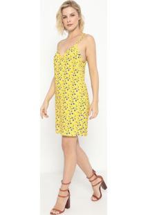Vestido Texturizado- Amarelo & Azul- Sommersommer
