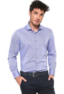 Camisa Aramis Reta Padronagem Azul/Branca