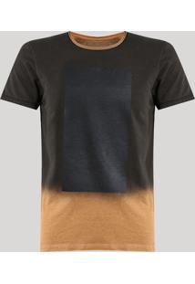 Camiseta Degradê Marrom