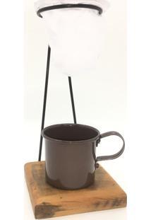 Kit De Café Egoista Individual 1 Caneca Marrom Demolição Feito A Mão - Silvana Vannucci